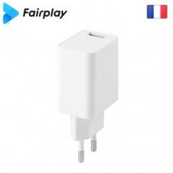 Chargeur 1 USB (Blanc) MILANO